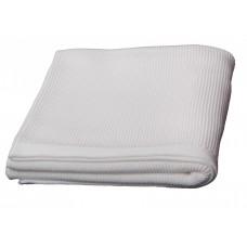 Plaid en tricot  Blanc